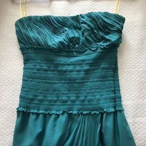 Catherine Malandrino Green Strapless Dress